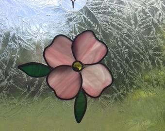 Dogwood flower stained glass