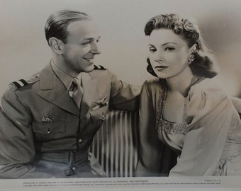 "Vintage Photograph Fred Astaire & Joan Leslie ""The Sky's the Limit"", circa 1943"