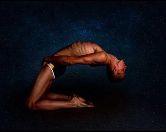 Sky Bones Gay Art Male Art Photo Print by Michael Taggart Photography shirtless underwear star stars starry night sky heaven heavens blue