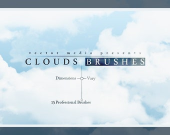 Clouds - Photoshop Brushes ( Instant Digital Download )