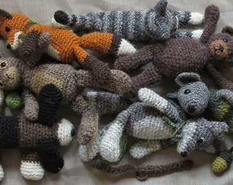4 for 3 pattern pack! Crochet animal / amigurumi patterns, buy 3 get one free.