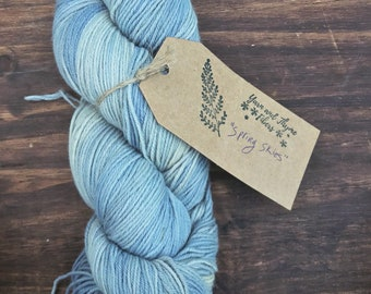 Naturally Dyed Yarn - Superwash Merino 4 ply - Yarn and Thyme Fibers