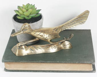 Vintage Brass Roadrunner Figurine