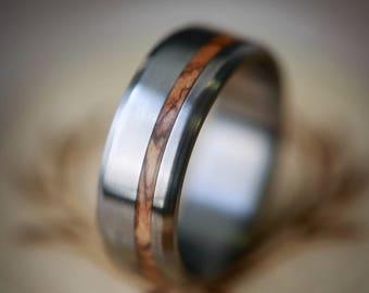 Wood wedding ring Etsy