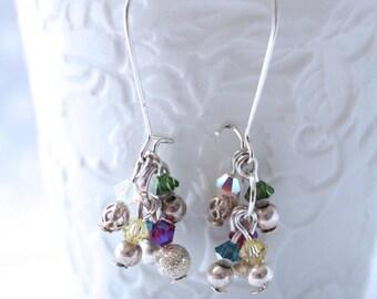 Earrings swarovski crystal charms