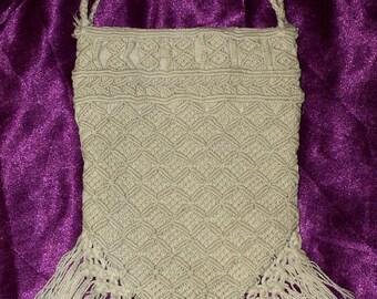Vintage Hand Made Crochet Handbag from the 30s