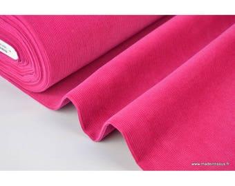 Velvet fabric .x1m fuchsia ribbed cotton