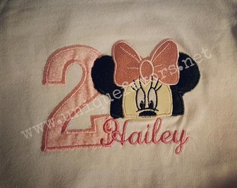 Custom Mouse and friends inspired Birthday shirts! Embroidered and personalized FREE!