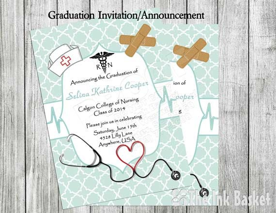 Nursing graduation invitation pinning ceremony invitation filmwisefo
