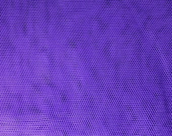 Fabric Remnant - Purple Netting / Tulle