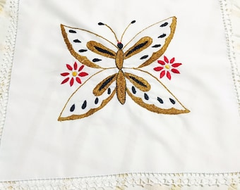 Embroidered Butterfly/Flower Cloth Set