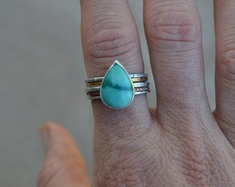Turquoise Stack Ring Set