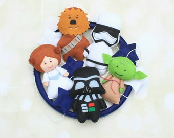 Baby mobile Star Wars mobile crib mobile Darth Vader Yoda Chewbacca Princess Leia Force Awakens stormtrooper stars mobile nursery mobile