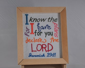 For I know the plans I have for you declares the Lord Jeremiah 29:11