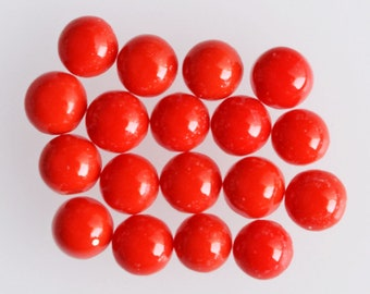 5mm Round Shape Top Quality Red Coral Lot Cabochon, Wholesale Lot, Designer Jewellery Making Gemstone, Red Coral Suppliers, Affordable Price