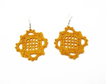 PDF Tutorial Crochet Pattern...Dangle Earrings -21