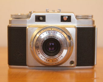 1959 AGFA Super Silette range finder + AGFAlux flash unit in bag