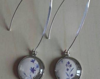 Porcelain Blue Flower Earrings delicate