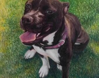 Custom Pet Portrait Custom Pet Painting. Custom Dog Portrait Watercolor Painting from Photo. Original Painting. Personalized Pet Watercolor