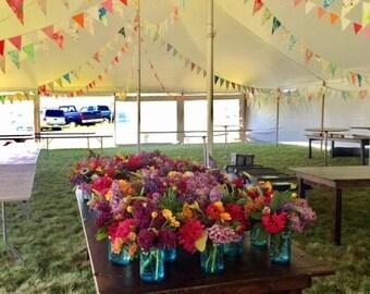 Wedding bunting, Wedding banner, Wedding bunting flags, Wedding decoration, Long bunting, Bright colourful bunting, Fabric buntig flags