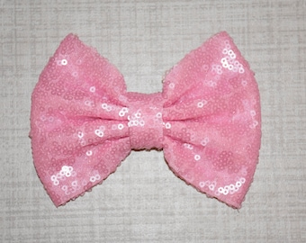 Powder Pink Sparkle Bow