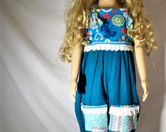 Girls Teal blue jumpsuit