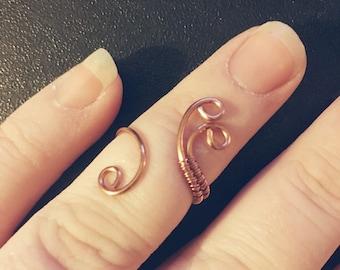 Boho Midi Ring, Copper Ring, Midi Rings, Festival Midi Ring, Copper Midi Ring, Boho Ring, Knuckle Ring, Copper Jewelry, Boho Jewelry