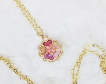 Sakura Matsuri Multi-Colored Blossom Necklace