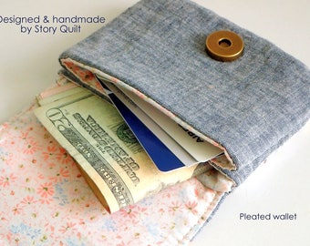 DIY wallet pattern | card wallet pattern | wallet sewing pattern | purse pattern | tutorial | digital PDF sewing project