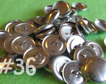 50 Covered Buttons - 7/8 inch - Size 36 wire backs/loop backs covered buttons notion supplies diy refill