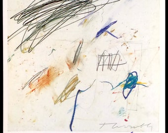 CY TWOMBLY - hand signed vintage print - c2005 (Museum Kurhaus Kleve) x