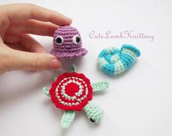 Amigurumi Turtle Pattern : Instant download pdf vintage crochet pattern turtle tortoise toy