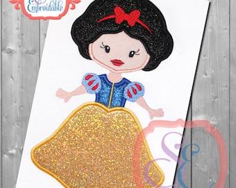 Disney inspired Princess Snow White Embroidered T-shirt, Embroidered T-shirt