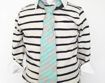 Aqua and Grey Necktie