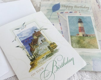 Ocean Themed Lighthouse Birthday Cards Vintage Cards and Envelopes for Men