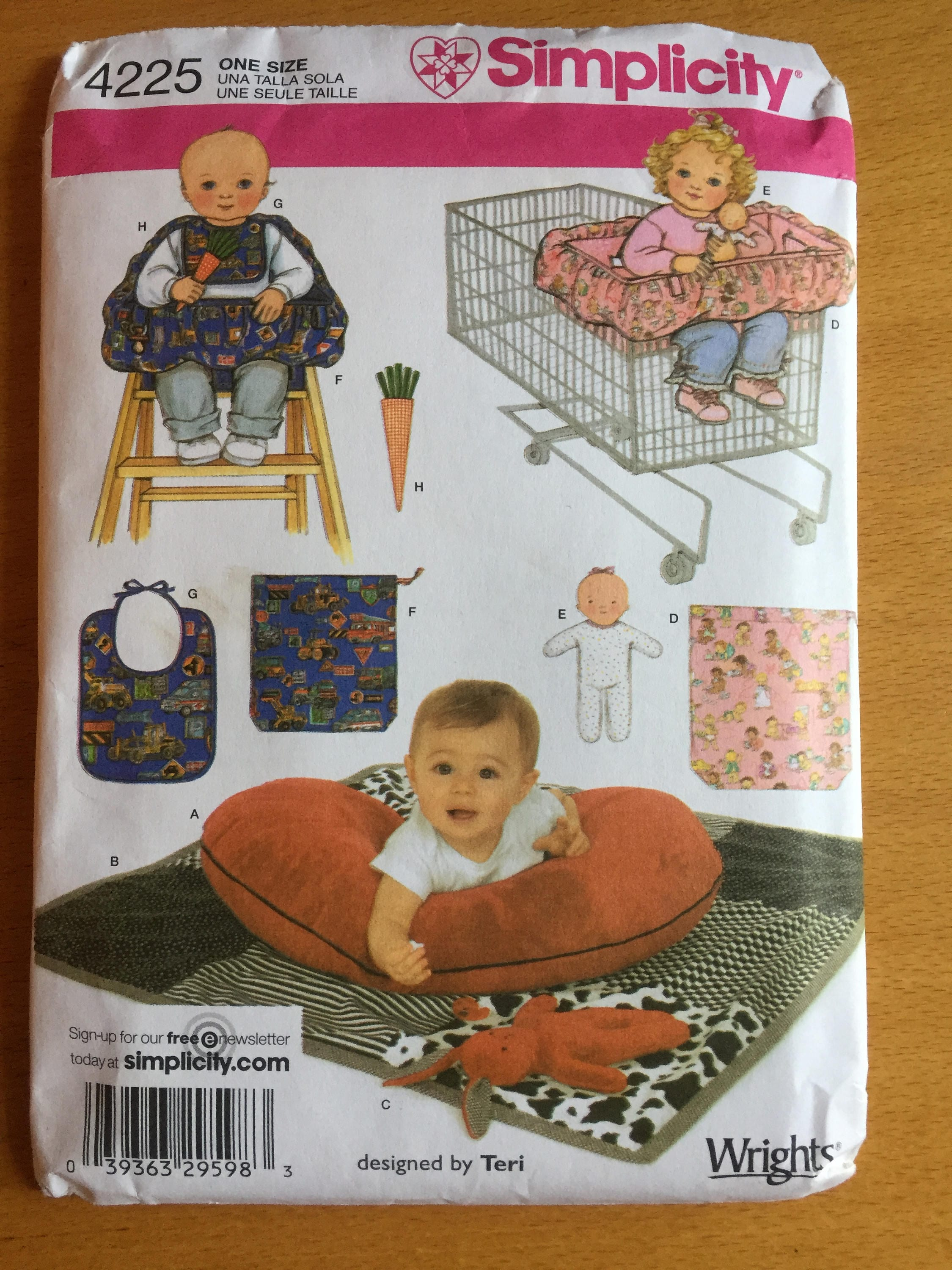 Simplicity 4225 sewing pattern. Baby Accessories Quilt, Boppy Pillow ...