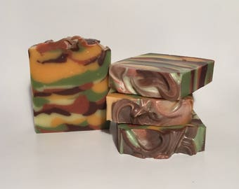 Woodland Elves Soap, Cold Process Soap, Homemade Soap, Handmade Soap, Vegan Soap