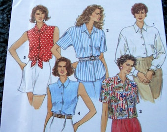 Simplicity 8302 Misses Shirts