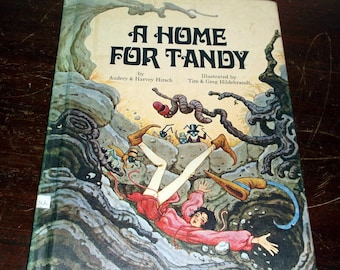 Vintage 1971 book A Home for Tandy by Audrey & Harvey Hirsch illustrated by Tim and Greg Hildebrandt Platt and Munk very nice condition
