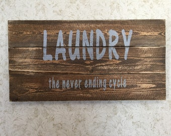 Laundry, Never ending cycle sign
