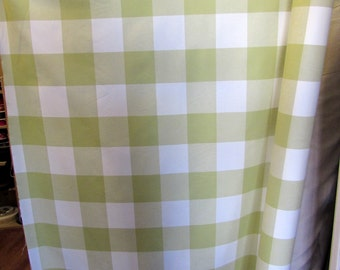 BUFFALO CHECK  in Limade, designer/decorator/drapery/bedding/upholstery fabric