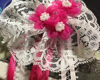 Sweet lolita cheveux broche rose
