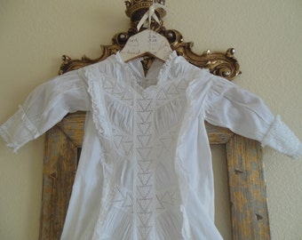 Antique Christening Gown--Work of Art--Special Heirloom--Rare Antique