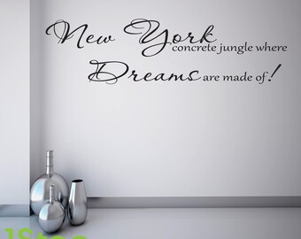 Alicia Keys New York Wall Sticker Quote - Bedroom Home Wall Art Decal X160