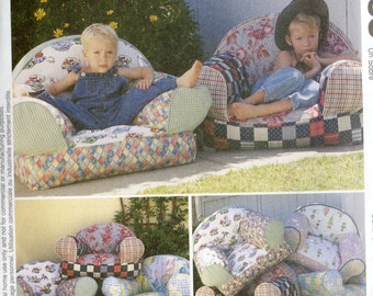 McCall's Home Decorating Pattern 9665 OVERSTUFFED KIDS CHAIRS