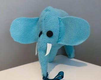 Blue Elephant Plush stuffed animal