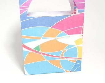 """Gift bag paper design """"Wave"""" to 16 x 10 x 4 cm."""