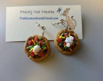 Navajo taco earrings