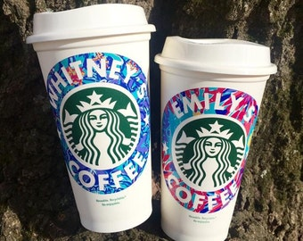 Personalized Starbucks Cup, Coffee Cup, Gift, Monogrammed Coffee Cup, Lilly, Starbucks Cup