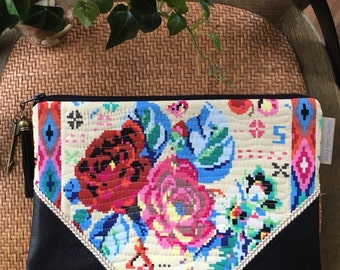 Roses & Leather Clutch